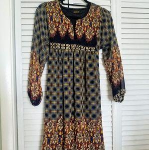 Empire waist long sleeve dress